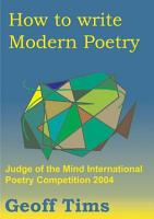 How to Write Modern Poetry PDF