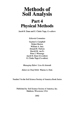 Methods of Soil Analysis PDF