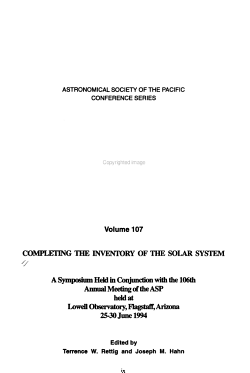 Completing the Inventory of the Solar System PDF