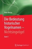 Die Bedeutung historischer Vogelnamen   Nichtsingv  gel PDF