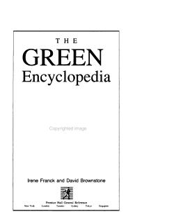The Green Encyclopedia PDF