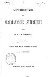 Geschiedenis der Nederlandsche letterkunde: derde deel De zeventiende eeuw 1, Volume 3