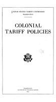 Colonial Tariff Policies PDF