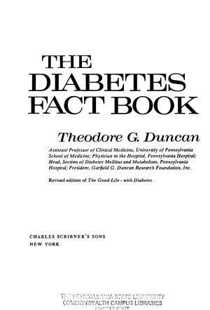 The Diabetes Fact Book