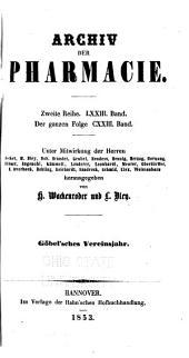 Archiv der Pharmazie: Bände 123-126