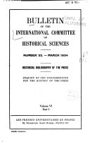 Download Bulletin of the International Committee of Historical Sciences Book
