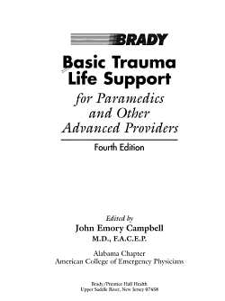 Basic Trauma Life Support for Paramedics and Other Advanced Providers PDF