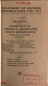 Department of Defense Appropriations for 1974 PDF