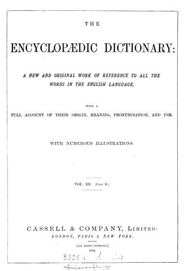 The encyclop  dic dictionary  7 vols   in 14   PDF