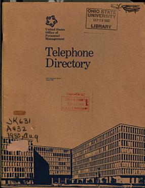 Telephone Directory   United States Office of Personnel Management PDF