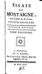 Essais de Montaigne: Volumes7à8