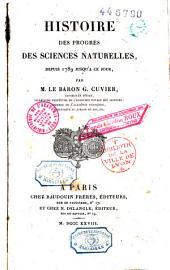 Histoire des progrès des sciences naturelles depuis 1789 jusqu'à ce jour: Volume4