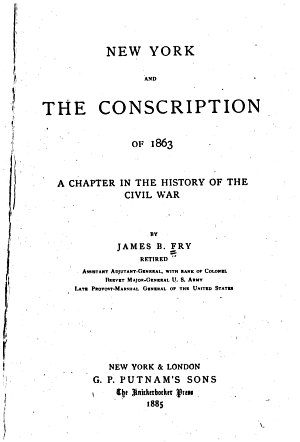 New York and the Conscription of 1863 PDF