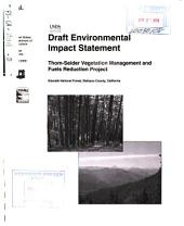 Klamath National Forest (N.F.), Thom-Seider Vegetation Management and Fuels Reduction Project: Environmental Impact Statement