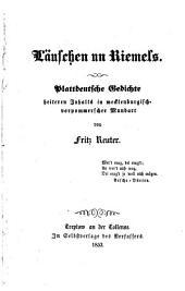 Läuschen un Riemels: plattdeutsche Gedichte heitern Inhalts in mecklenburgisch-vorpommerscher Mundart