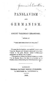 Panslavism and Germanism