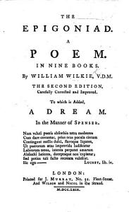 The Epigoniad  a Poem     Second Edition  To which is Added a Dream in the Manner of Spenser PDF