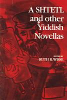 A Shtetl and Other Yiddish Novellas PDF