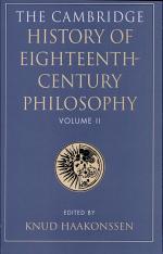 The Cambridge History of Eighteenth-century Philosophy