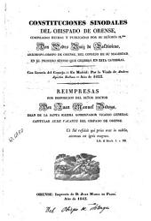 Constituciones sinodales del obispado de Orense