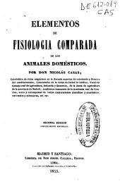 Elementos de fisiología comparada de los animales domésticos