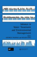 Advances in Water Treatment and Environmental Management PDF