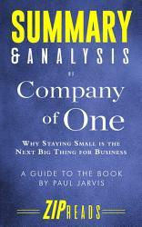 Summary & Analysis of Company of One