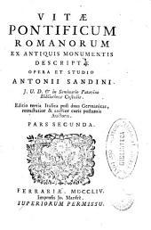 Vitae Pontificum Romanorum ex antiquis monumentiis descriptae