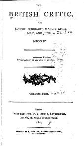 The British Critic: Volumes 23-24