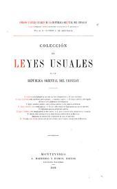 Colección de leyes usuales de la República Oriental del Uruguay