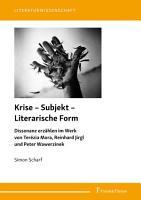 Krise     Subjekt     Literarische Form PDF
