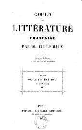 Cours de littérature française: Tableau de la littérature au XVIIIe Siècle
