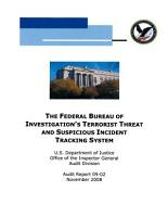Federal Bureau of Investigation s Terrorist Threat and Suspicious Incident Tracking System PDF