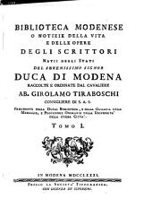 Biblioteca modenese: Volume 1