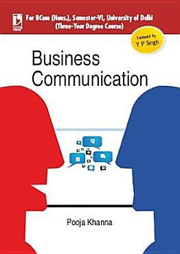 Business Communication  For University of Delhi  B Com Hons   Sem 6  PDF