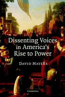 Dissenting Voices in America s Rise to Power PDF