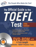 Official Guide To The Toefl Test With Cd Book PDF