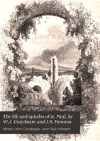 The life and epistles of st  Paul  by W J  Conybeare and J S  Howson PDF