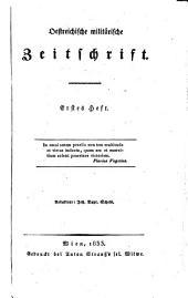 Östreichische militärische Zeitschrift: Band 1