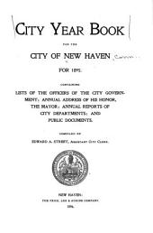 City Year Book for the City of New Haven ...