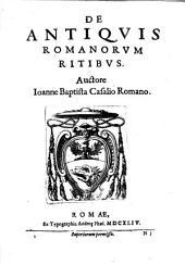 De antiquis Romanorum ritibus