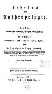 Lehrbuch der Anthropologie
