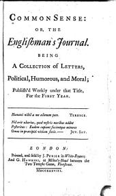 Common Sense: Or, The Englishman's Journal