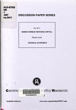 Banks Versus Venture Capital