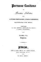 Parnaso Lusitano: ou, Poesias selectas dos auctores portuguezes antigos e modernos, illustradas com notas. Precedido de uma historia abreviada da lingua e poesia portugueza