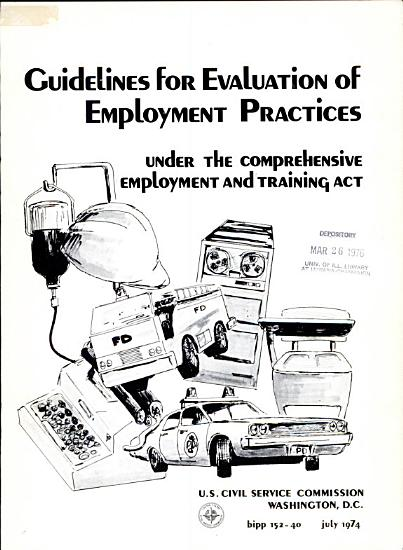 Guidelines for Evaluation of Employment Practices Under the Comprehensive Employment and Training Act PDF