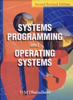 Systems Programming and Operating Systems PDF