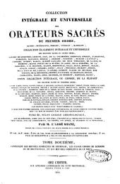 Collection intégrale et universelle des orateurs sacrés du premier et du second ordre: savoir : de Lingendes ... [et al.] et collection intégrale, ou choisie de la plupart des orateurs du troisième ordre : savoir : Camus ... [et al.], Volume12