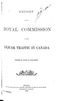 Report of the Royal Commission on the Liquor Traffic in Canada PDF