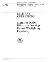 Military operations   status of DOD s efforts to develop future warfighting capability   report to the chairman  Committee on Armed Services  U S  Senate PDF